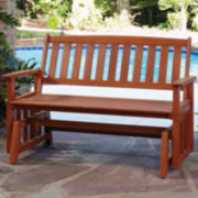 Bali Hai Wood Outdoor Glider Bench