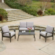 Honolulu 4-pc. Wicker Outdoor Sofa Set