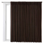 Royal Velvet® Supreme Pinch-Pleat/Back-Tab Lined Patio Panel