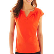 Worthington® Split-Neck Top - Petite