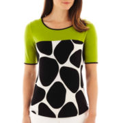 Worthington® Cap-Sleeve Colorblock Top - Tall