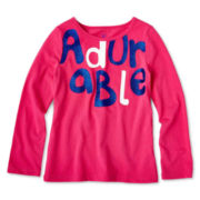Okie Dokie® Long-Sleeve Graphic Tee - Girls 2t-6
