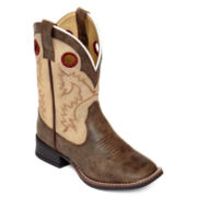Laredo Collared Girls Western Boots - Little Kids