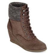 SM Daria Wedge Womens Ankle Boots