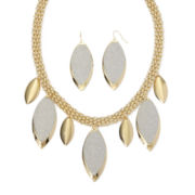 Mixit™ Textured Leaf-Design Earring and Necklace Set