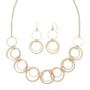 Mixit™ Gold-Tone Open Link Earring and Necklace Set
