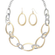 Mixit™ Hammered Link Earring and Necklace Set