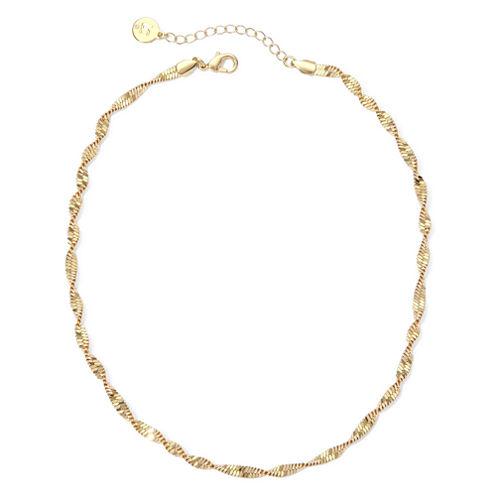 Liz Claiborne® Gold-Tone Textured Twist Necklace
