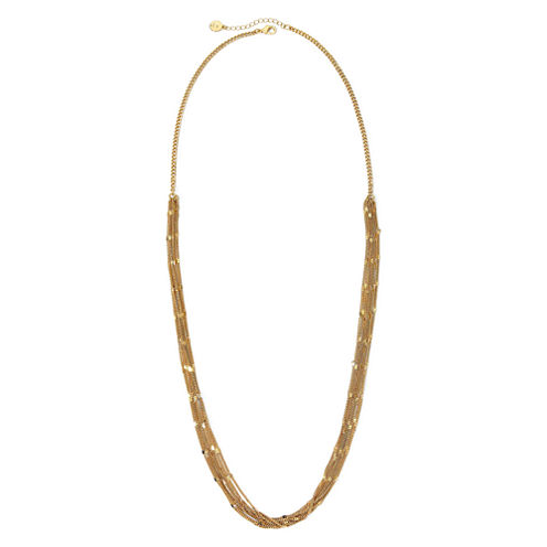 Liz Claiborne® Gold-Tone Multi-Strand Long Necklace