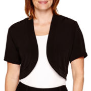 R&K Originals® Short-Sleeve Bolero Shrug - Petite