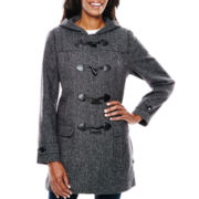 Liz Claiborne® Wool-Blend Toggle Coat