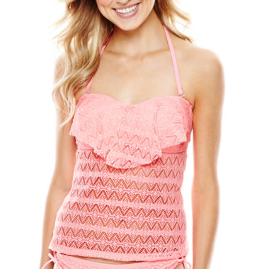 jcpenney.com | Arizona Crochet Flounce Bandeaukini Swim Top - Juniors