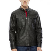 i jeans by Buffalo Faux-Leather Racer Jacket