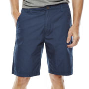Arizona Solid Flat-Front Poplin Shorts
