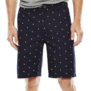 Arizona Printed Flat-Front Poplin Shorts
