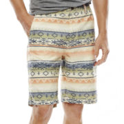 Arizona Printed Flat-Front Poplin Shorts