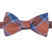 Izod® Antelope Plaid Pre-Tied Bow Tie