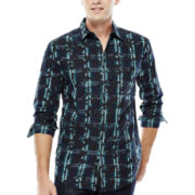 JF J. Ferrar® Long-Sleeve Camo-Print Woven Shirt