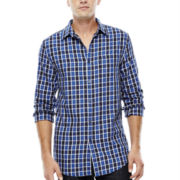 JF J. Ferrar® Long-Sleeve Square Twill Woven Shirt