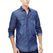 JF J. Ferrar® Long-Sleeve Western Chambray Shirt