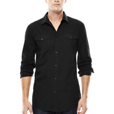 jcpenney.com | JF J. Ferrar® Long-Sleeve Triple-Needle Woven Shirt