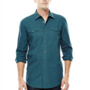 JF J. Ferrar® Long-Sleeve Triple-Needle Woven Shirt