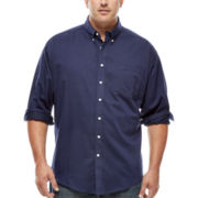 Dockers® Long-Sleeve Solid Twill Shirt - Big & Tall