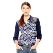 Joe Fresh™ Long-Sleeve Peasant Blouse