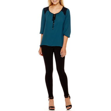jcpenney.com | Alyx® Lace-Shoulder Peasant Top or Slim Millennium Pants