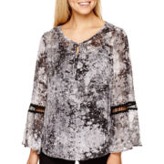 Alyx® Long-Sleeve Print Peasant Top