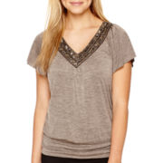 Alyx® Flutter-Sleeve Malone Banded Top