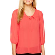 Alyx® 3/4-Sleeve Pebble V-Neck Top