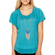 Alyx® Short Dolman-Sleeve Jersey Butterfly Top