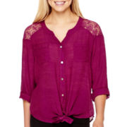 Alyx® 3/4-Sleeve Gauze Top