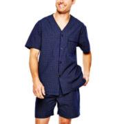 Stafford® Short-Sleeve Pajama Set–Big & Tall