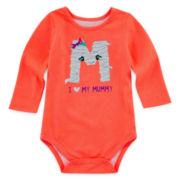 Okie Dokie® Graphic Glitter Bodysuit – Baby Girls newborn-24m
