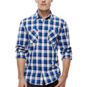 Arizona Long-Sleeve Workwear-Style Poplin Shirt