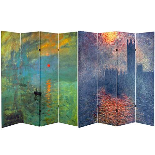 Oriental Furniture 6' Works Of Monet Room Divider