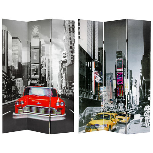 Oriental Furniture 6' New York City Taxi Room Divider