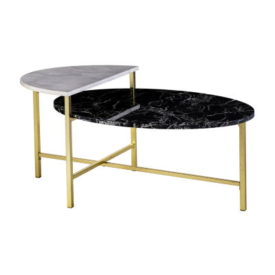 Holly Amp Martin Bickly Coffee Table Color Gold W Marble