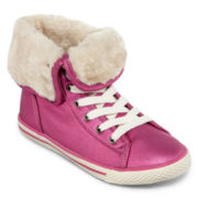 Arizona Haylee Girls Faux-Fur Lined Sneakers - Little Kids/Big Kids