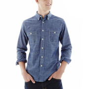 Arizona Long-Sleeve Printed Chambray Shirt