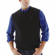 IZOD® Fine–Gauge Sweater Vest–Big & Tall