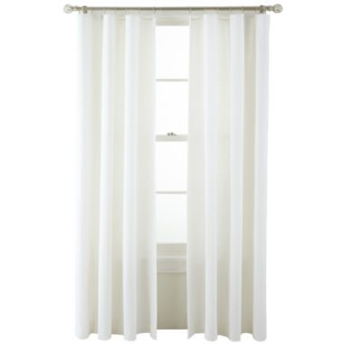 jcpenney.com | MarthaWindow™ Caldwell Solid Ring-Top Curtain Panel