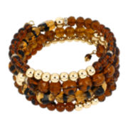 Mixit™ Brass-Tone Brown Coil Bracelet