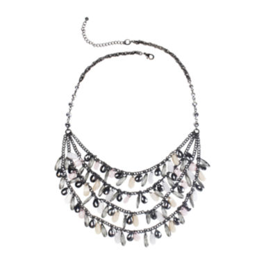 jcpenney.com | Mixit™ Gray-Tone Pink and Neutral 3-Row Shaky Necklace