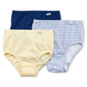 Jockey® 3-pk. Elance® Cotton Briefs - 1484