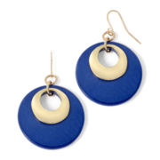 Mixit™ Gold-Tone Blue Shell Earrings