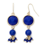 Mixit™ Gold-Tone Cobalt Blue Double-Drop Earrings