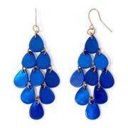 Mixit™ Gold-Tone Cobalt Blue Shell Chandelier Earrings